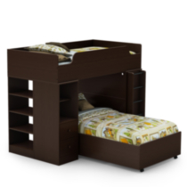 "South Shore Logik Twin Loft Bed (39"") Chocolate"