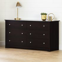 South Shore Vito Collection 6-Drawer Dresser Chocolate