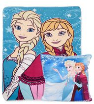 Frozen Fleece Throw and Decorative Cushion