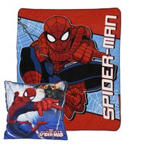 Spiderman Fleece Throw and Decorative Cushion