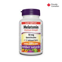 Webber Naturals® Melatonin, Maximum Strength, Easy Dissolve, 10 mg
