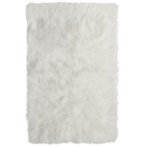 "Your Zone Flokati Rugs - 30"" x 46"" White"