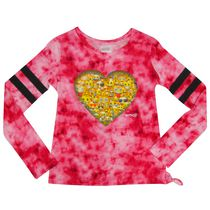 Emoji Girl's Long Sleeve High Low T-shirt M