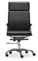 Zuo Lider Plus High Back Office Chair Black