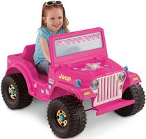 Jouet porteur Jeep alimenté par batterie de 6 volts Barbie Power Wheels de Fisher-Price