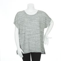 George Plus Women's Dolman Drapey Top Gray 1x