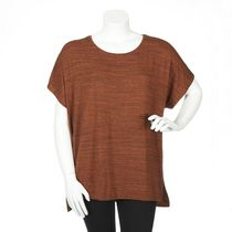 George Plus Women's Dolman Drapey Top Coral 1x