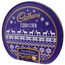 Biscuits au chocolat au lait assorties Jumper Tin de Cadbury