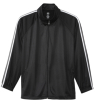 Athletic Works Poly Tricot Jacket Black XXXL