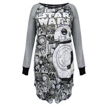 Star Wars Junior Ladies' Lounge Wear Big Bb8 Starwars Long Sleeve Sleepshirt XXL