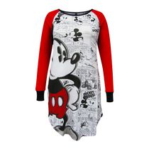 Disney Junior Ladies' Lounge Wear Big Mickey Long Sleeve Sleepshirt XS