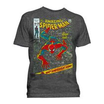 Marvel Men's Comics Anniversary Spidey Short Sleeve Crew T-Shirt M