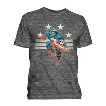 Marvel Men's Captain America Short Sleeve Crew T-Shirt XL