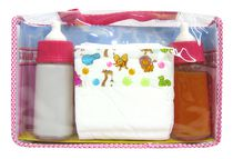 Kid Connection Magic Bottles with Diaper Set - Pink