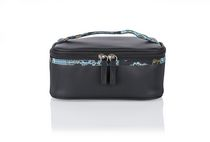 Conair Modella Quilted Moroccan Train Case Cosmetic Bag
