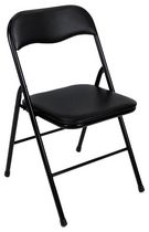 Cosco Vinyl Black Folding Chair