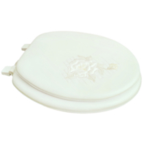 17 inch Soft Toilet Seat with Rose Embroidery