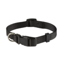 "5/8"" (16mm) Adjustable Dog Collar Black"