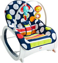 Fisher-Price Infant-to-Toddler Rocker - Navy Dot