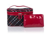Conair Modella Posh Plaid Train Case Cosmetic Bag