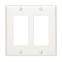 Decora 2-Gang Wallplate, in White