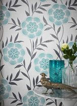 Graham & Brown Flora Wallpaper Green