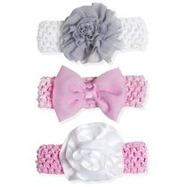 A D Sutton Pretty Baby Headband Set - Pink, 3 Pieces