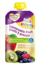Parent's Choice Squeezable Fruit - Apple, Kiwi, & Mixed Berry