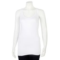 George Women's Scoop Neck Rib Tank Top White XL/TG