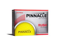 Balles de golf en jaune Rush pour distance de Pinnacle