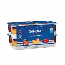 Danone Creamy Strawberry/Rasberry/Peach Stirred Yogurt