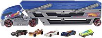 Hot Wheels Turbo Hauler Vehicle + 5 Cars