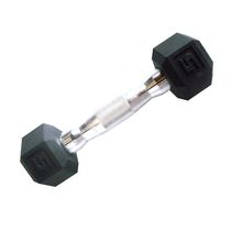 CAP Barbell Rubber Coated Hex Dumbbell, 5 lbs
