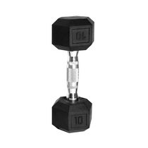CAP Barbell Rubber Coated Hex Dumbbell, 10 lbs