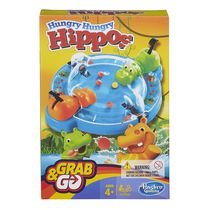 Hasbro Gaming Jeu Grab & Go - Hungry Hungry Hippos