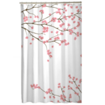 Cherry Blossom Fabric Shower Curtain