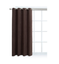 Faux Suede Window Panel with Grommets Chocolate