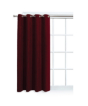 Faux Suede Window Panel with Grommets Red