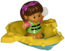 Fisher-Price Little People Makin' Waves Floating Raft Bath Toy