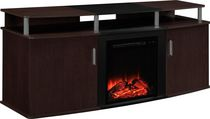Dorel TV Console Carson Fireplace Cherry