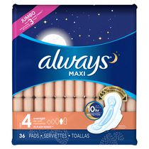 Always Maxi Overnight Flexi-wings 10-Hr Leakguard Protection Pads