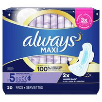 Always Maxi Extra Heavy Overnight Flow Flexi-Wings 10-Hr Leakguard Protection Pads