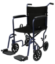 1med Aluminum Transport Chair (Dark Blue)