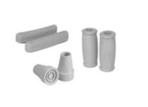 1med Crutch Kit - Pair of Underarm pads, Pair of Hand Grips, Pair of Crutch Tips (Grey)