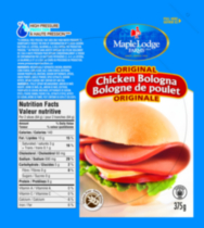 Bologne de poulet sans gluten Original de Maple Lodge FarmsMD