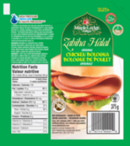 Bologne de poulet Zabiha Halal de Maple Lodge FarmsLTD - originale