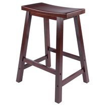 Saddle seat stool Walnut