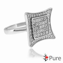 Pure CZ Micro Pave Sterling Silver Fashion Ring 7