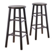Beveled seat stool Dark Brown