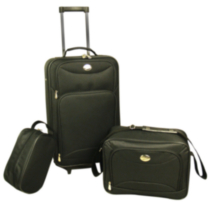Travelway Group International JetStream 3 Piece Luggage Set Black